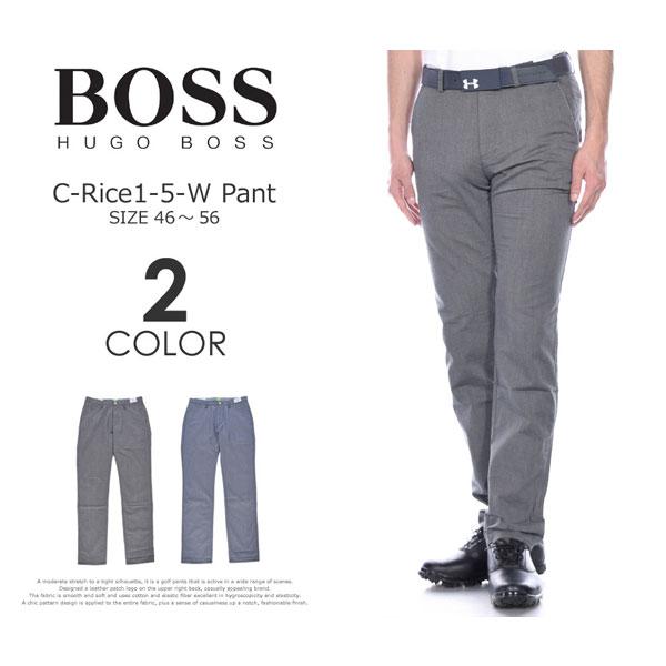 (在庫処分)ヒューゴボス HUGO BOSS メンズウェア ゴルフ パンツ ウェア ロングパンツ ボトム C-ライス1-5-W パンツ 大きいサイズ USA直輸入 あす楽対応