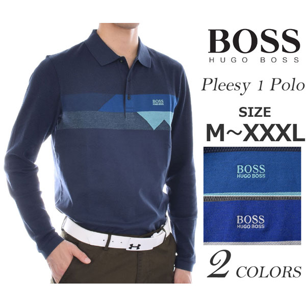 (在庫処分)ヒューゴボス HUGO BOSS ゴルフウェア メンズ おしゃれ 秋冬ウェア 長袖メンズウェア ゴルフ プリーシー 1 長袖ポロシャツ 大きいサイズ USA直輸入 あす楽対応