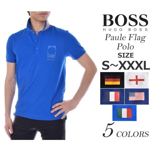 ヒューゴボス HUGO BOSS ゴルフウェア メンズウェア ゴルフ ポール フラッグ 半袖ポロシャツ 大きいサイズ USA直輸入 あす楽対応