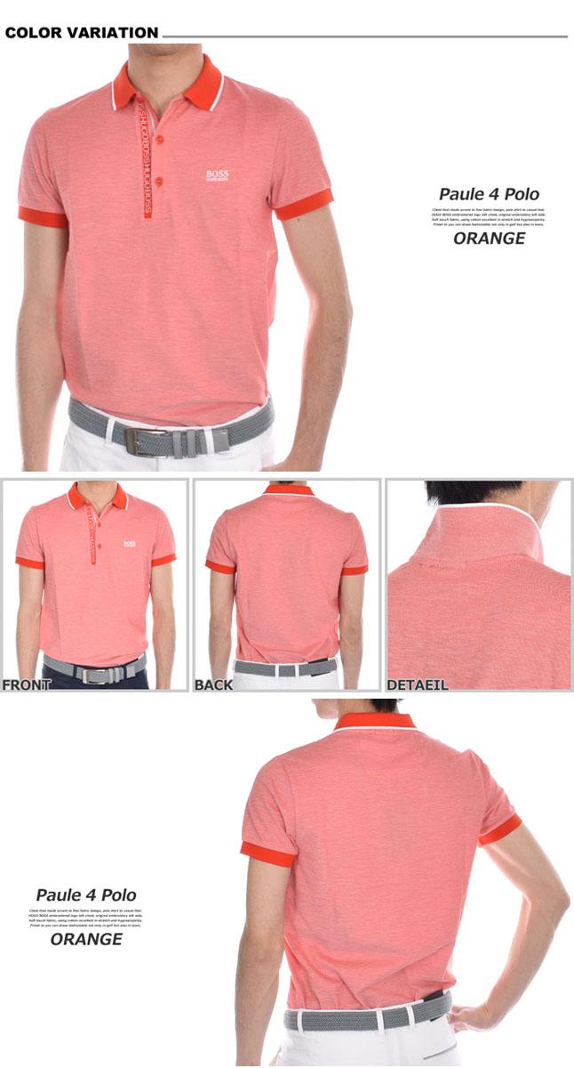 (EX商品)ゴルフウェア メンズ  シャツ トップス ポロシャツ 春夏 おしゃれ ヒューゴボス HUGO BOSS ゴルフウェア メンズウェア ゴルフ ポール 4 半袖ポロシャツ 大きいサイズ USA直輸入 あす楽対応