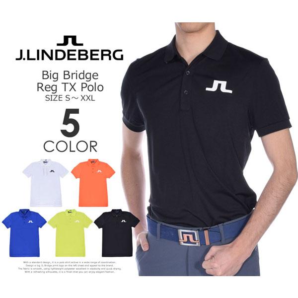 ゴルフウェア メンズ シャツ トップス ポロシャツ 春夏 おしゃれ (在庫処分)Jリンドバーグ J.LINDEBERG  ビッグ ブリッジ レギュラー TX 半袖ポロシャツ 大きいサイズ USA直輸入 あす楽対応 令和元年記念セール