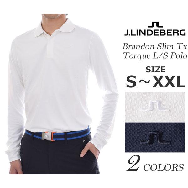 (在庫処分)ジェイリンドバーグ J LINDEBERG 長袖メンズゴルフウェア ブランドン スリム TX トルク 長袖ポロシャツ 大きいサイズ USA直輸入 あす楽対応