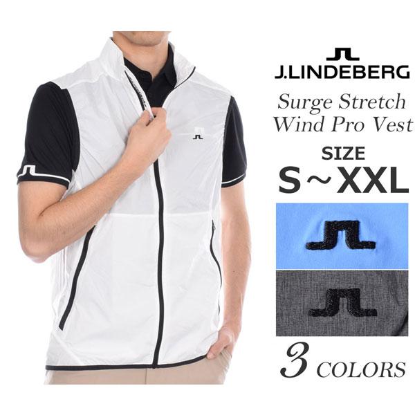 (在庫処分)Jリンドバーグ ベスト メンズウエア ゴルフウェア メンズ ゴルフベスト サージ ストレッチ ウインド プロ ベスト 大きいサイズ USA直輸入