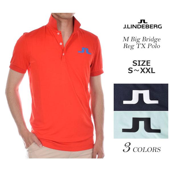 Jリンドバーグ J.LINDEBERG ゴルフウェア メンズウェア M ビッグ ブリッジ レギュラー TX 半袖ポロシャツ 大きいサイズ USA直輸入 あす楽対応