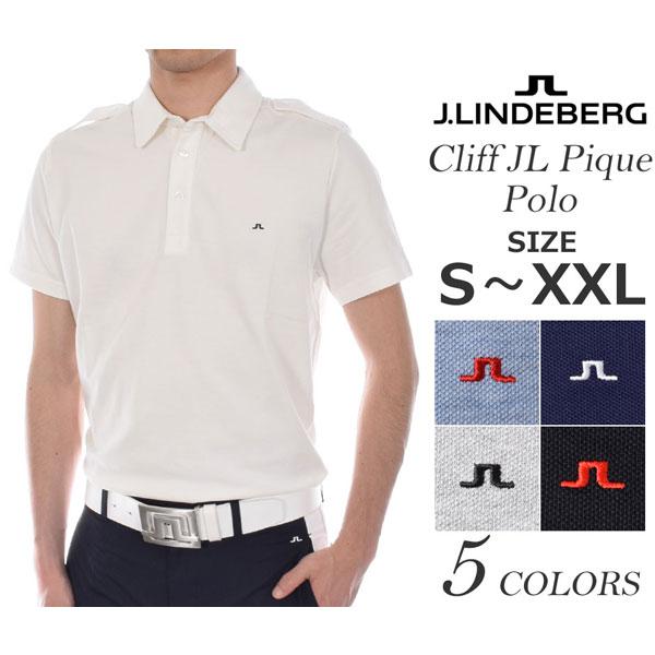 Jリンドバーグ J.LINDEBERG ゴルフウェア メンズウェア クリフ JL ピケ 半袖ポロシャツ 大きいサイズ USA直輸入 あす楽対応