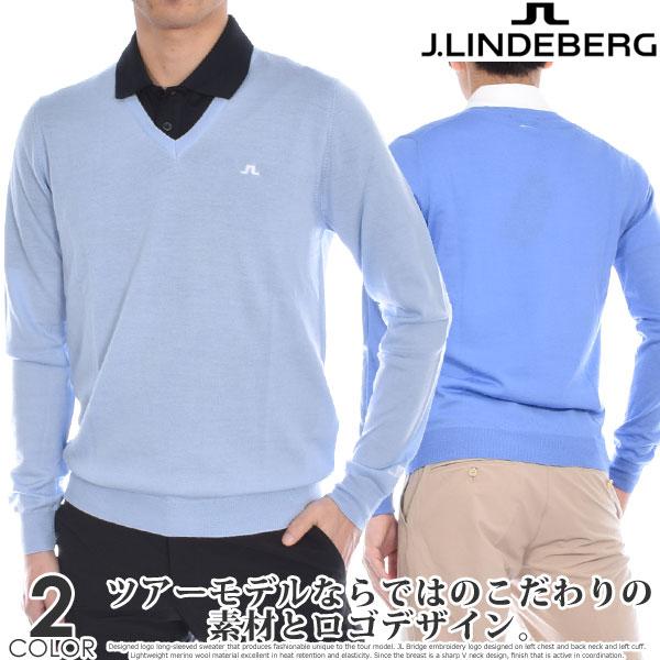 (在庫処分)ジェイリンドバーグ J LINDEBERG 長袖メンズゴルフウェア ニューマン Vネック ツアー メリノ 長袖セーター 大きいサイズ USA直輸入 あす楽対応