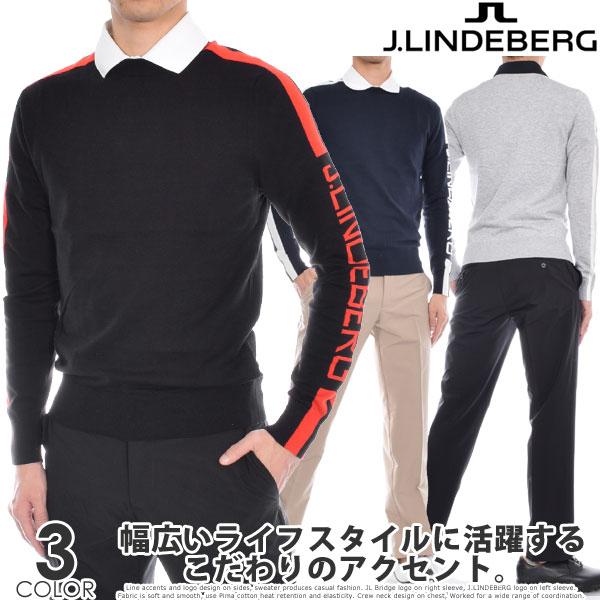(在庫処分)ジェイリンドバーグ J LINDEBERG 長袖メンズゴルフウェア ノーランズ 長袖セーター 大きいサイズ USA直輸入 あす楽対応 令和元年記念セール