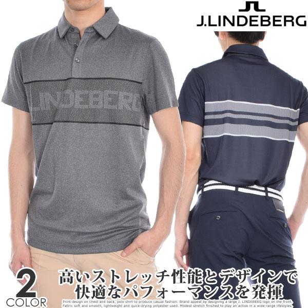 (スペシャル感謝セール)ゴルフウェア メンズ シャツ トップス ポロシャツ 春夏 おしゃれ Jリンドバーグ J.LINDEBERG ゴルフウェア メンズウェア エード レギュラー TX ジャガード 半袖ポロシャツ 大きいサイズ USA直輸入 あす楽対応