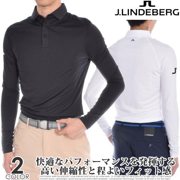 (ポイント10倍)Jリンドバーグ J.LINDEBERG ゴルフウェア メンズ インナー オーティス スリムフィット 長袖ポロシャツ USA直輸入 あす楽対応