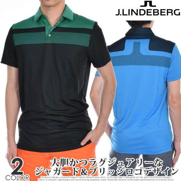 Jリンドバーグ J.LINDEBERG ゴルフウェア メンズ シャツ トップス 春夏 おしゃれ メンズウェア ケイド レギュラー フィット ジャガード 半袖ポロシャツ 大きいサイズ USA直輸入 あす楽対応
