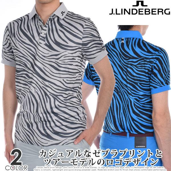 Jリンドバーグ J.LINDEBERG ゴルフウェア メンズ シャツ トップス 春夏 おしゃれ メンズウェア M ツアー テック プリント スリム フィット 半袖ポロシャツ 大きいサイズ USA直輸入 あす楽対応