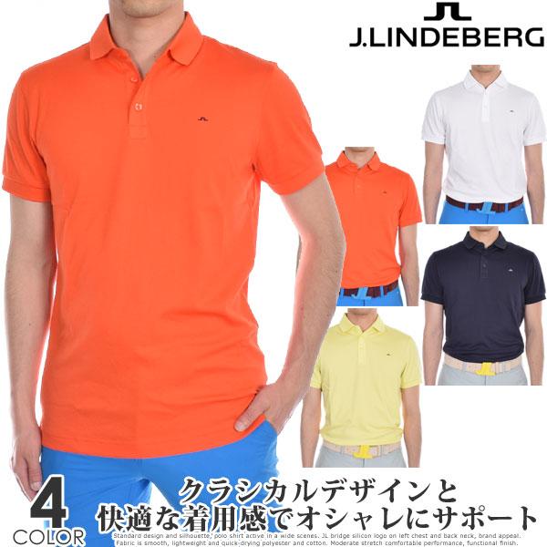 Jリンドバーグ J.LINDEBERG ゴルフウェア メンズ シャツ トップス 春夏 おしゃれ メンズウェア スタン レギュラー フィット 半袖ポロシャツ 大きいサイズ USA直輸入 あす楽対応