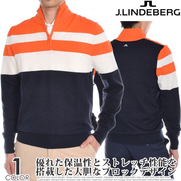 (スペシャルSale)ジェイリンドバーグ J LINDEBERG ゴルフウェア メンズ 秋冬ウェア 長袖メンズウェア ヘンリー ウール クールマックス 長袖セーター 大きいサイズ USA直輸入 あす楽対応