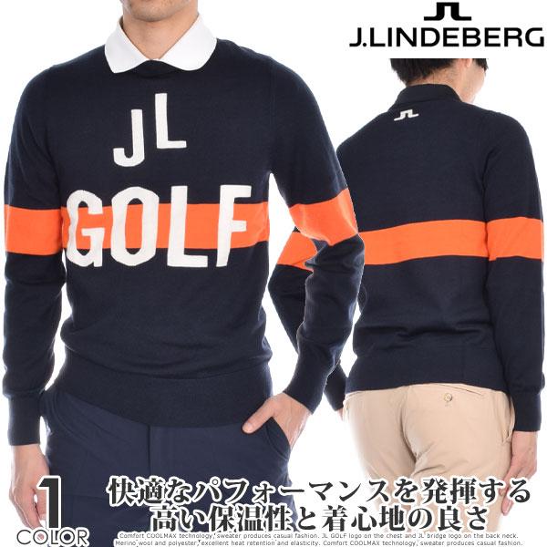(ポイント10倍)ジェイリンドバーグ J LINDEBERG ゴルフウェア メンズ 秋冬ウェア 長袖メンズウェア クリント ウール クールマックス 長袖セーター 大きいサイズ USA直輸入 あす楽対応