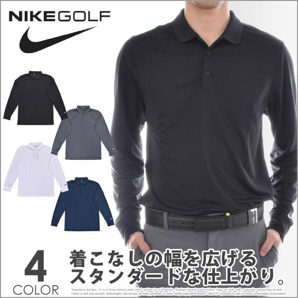 ナイキ Nike ゴルフウェア メンズ 秋冬ウェア 長袖メンズウェア ゴルフ ビクトリー 長袖ポロシャツ 大きいサイズ USA直輸入 あす楽対応