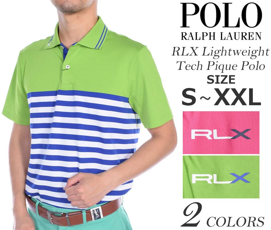 (在庫処分)ポロゴルフ ラルフローレン ゴルフウェア メンズウェア ゴルフ RLX ライトウェイト テック ピケ 半袖ポロシャツ 大きいサイズ USA直輸入 あす楽対応