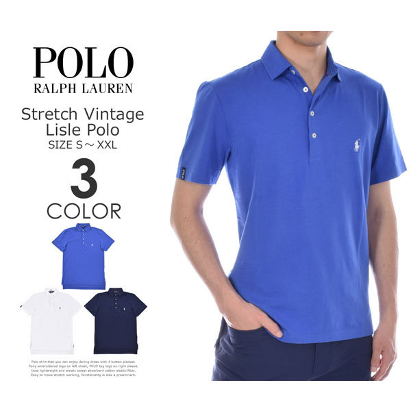 ポロゴルフ ラルフローレン ゴルフウェア メンズウェア ゴルフ ストレッチ ビンテージ ライル 半袖ポロシャツ 大きいサイズ USA直輸入 あす楽対応