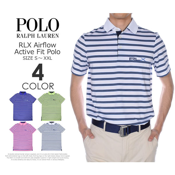 (在庫処分)ポロゴルフ ラルフローレン ゴルフウェア メンズウェア ゴルフ RLX エアフロー アクティブ フィット 半袖ポロシャツ 大きいサイズ USA直輸入 あす楽対応