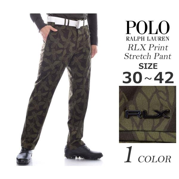(在庫処分)ポロゴルフ ラルフローレン ゴルフパンツ メンズ パンツ RLX プリント ストレッチ パンツ 大きいサイズ USA直輸入 あす楽対応