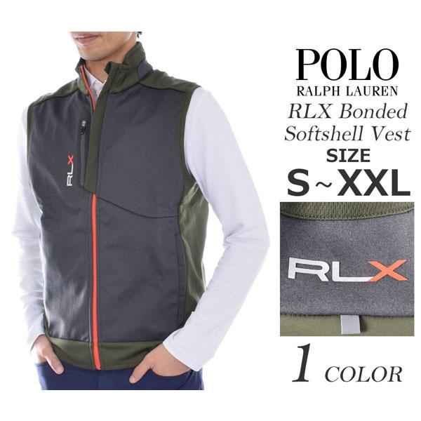 (在庫処分)ポロゴルフ ラルフローレン ゴルフウェア メンズウェア ゴルフベスト RLX ボンデッド ソフトシェル フルジップ ベスト 大きいサイズ あす楽対応 平成最後セール 令和記念