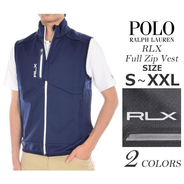(在庫処分)ポロゴルフ ラルフローレン ゴルフウェア メンズウェア ゴルフベスト RLX フルジップ ベスト 大きいサイズ あす楽対応 令和元年記念セール