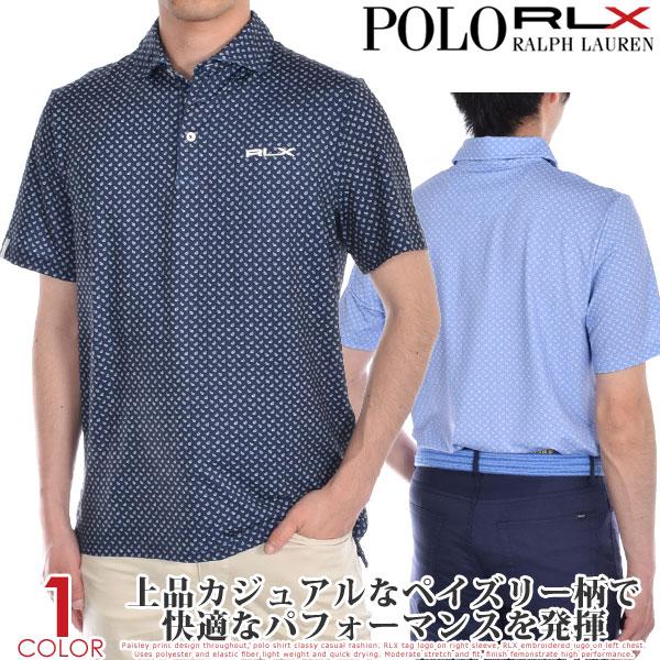 ポロゴルフ ラルフローレン ゴルフウェア メンズ シャツ トップス ポロシャツ 春夏 おしゃれ RLX プリント エアフロー 半袖ポロシャツ 大きいサイズ USA直輸入 あす楽対応