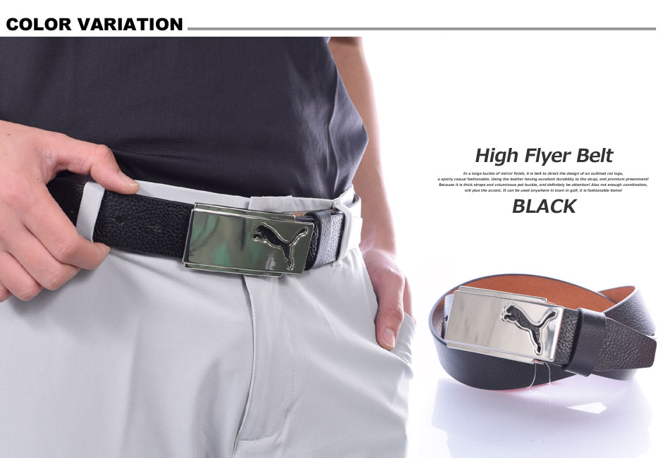Large Golf belt men's wear high flyer, PUMA belt size USA imports