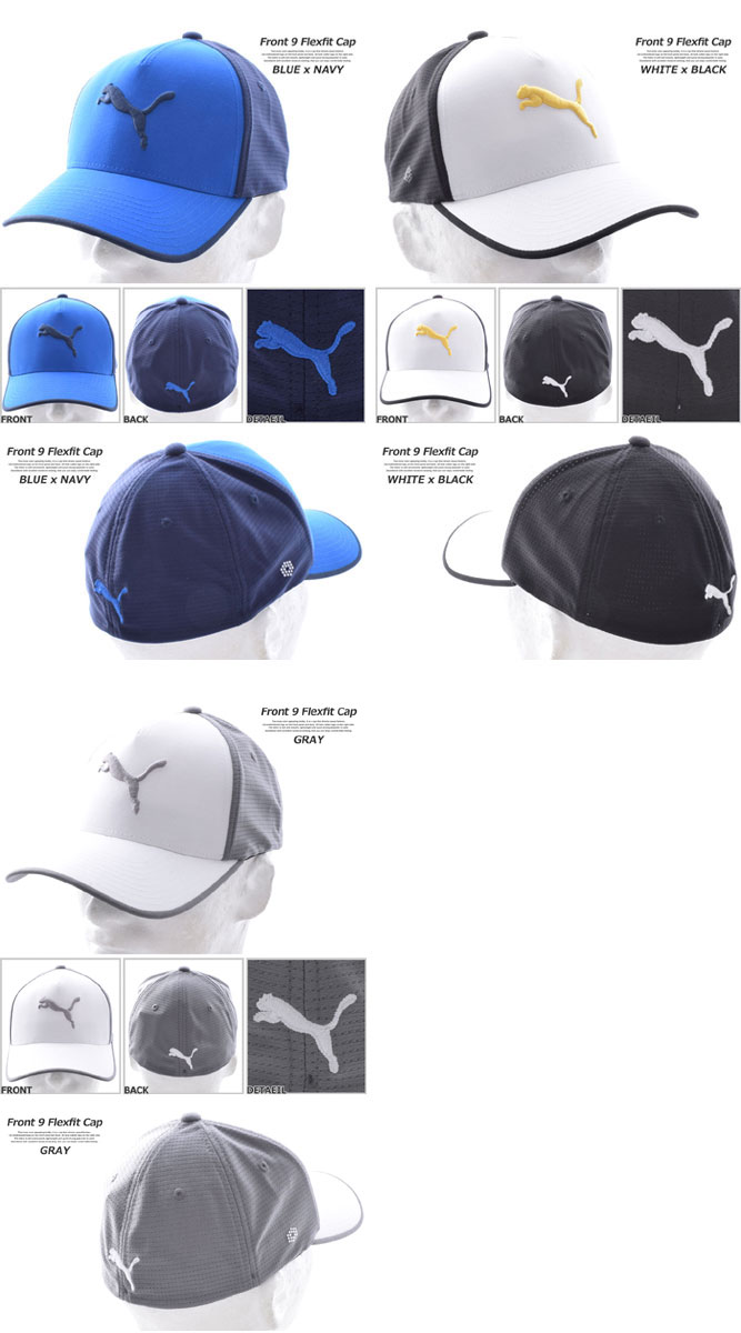 Puma cap hat men cap men s wear golf wear men front desk 9 flextime fitting  cap 367cf68e4fb