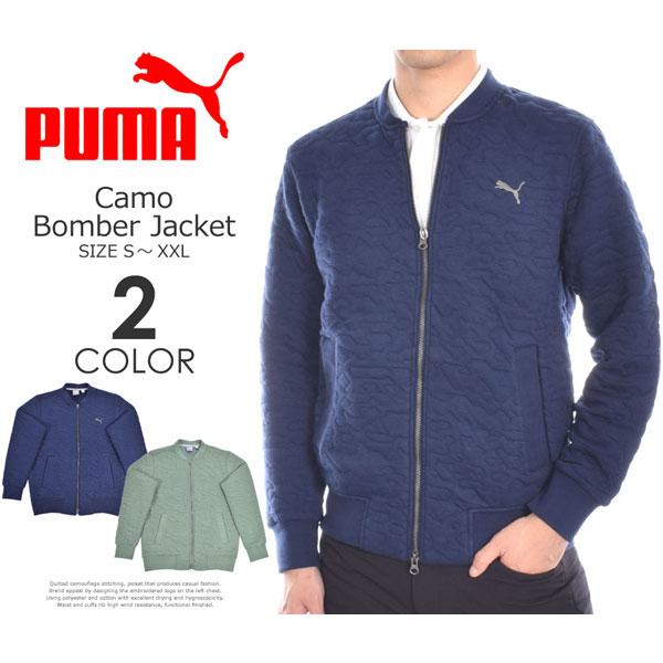 (在庫処分)プーマ Puma ゴルフウェア メンズ おしゃれ 秋冬ウェア 長袖メンズウェア カモ ボンバー 長袖ジャケット 大きいサイズ USA直輸入 あす楽対応