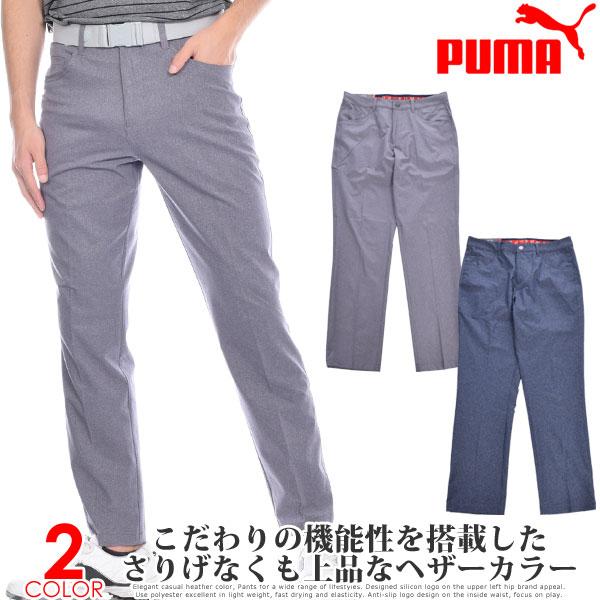 プーマ Puma ゴルフウェア メンズ おしゃれ ゴルフパンツ ロングパンツ ボトム メンズウェア ジャックポット 5ポケット ヘザー パンツ 大きいサイズ USA直輸入 あす楽対応