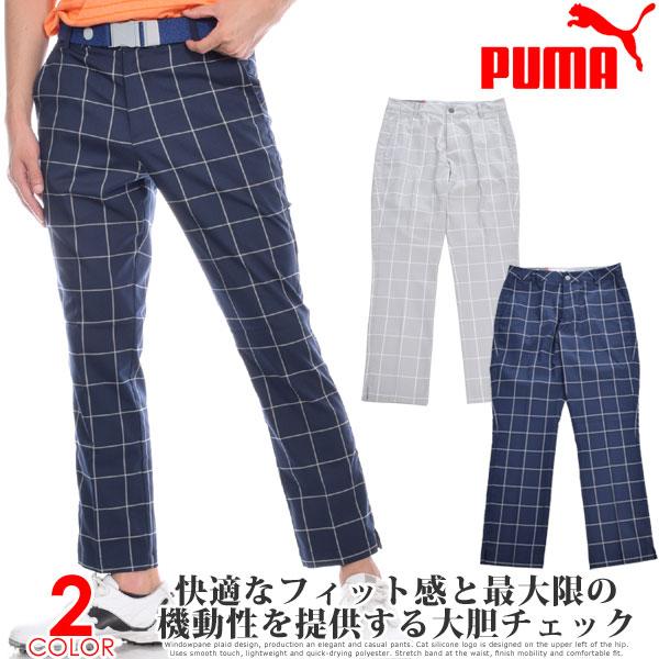 プーマ Puma ゴルフウェア メンズ おしゃれ ゴルフパンツ ロングパンツ ボトム メンズウェア ストレッチ プレイド パンツ 大きいサイズ USA直輸入 あす楽対応