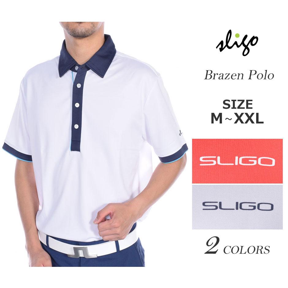 ゴルフウェア メンズ シャツ トップス ポロシャツ 春夏 おしゃれ スライゴ SLIGO ゴルフウェア メンズ ブレイズン 半袖ポロシャツ 大きいサイズ USA直輸入 あす楽対応