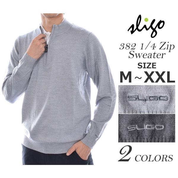 スライゴ SLIGO ゴルフウェア メンズ 秋冬ウェア 長袖メンズウェア ゴルフ 382 1/4ジップ 長袖セーター 大きいサイズ USA直輸入 あす楽対応