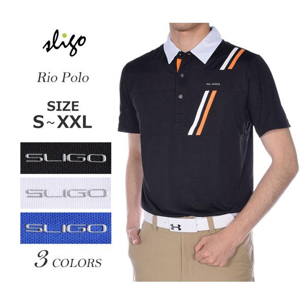 ゴルフウェア メンズ シャツ トップス ポロシャツ 春夏 おしゃれ スライゴ SLIGO ゴルフウェア メンズ リオ 半袖ポロシャツ 大きいサイズ USA直輸入 あす楽対応