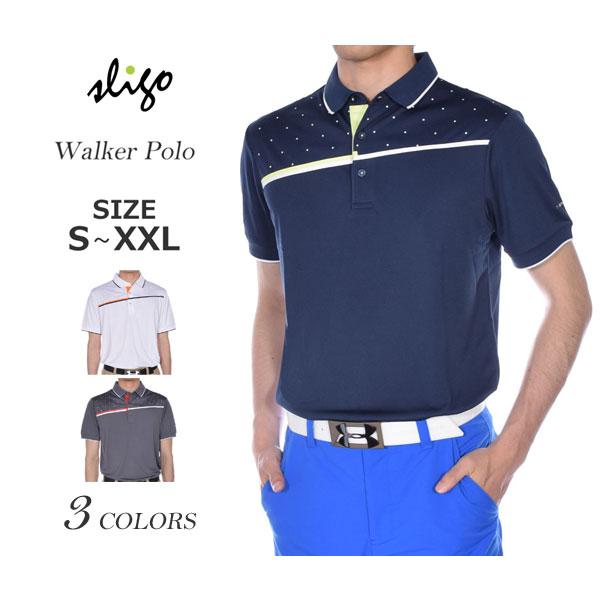 ゴルフウェア メンズ シャツ トップス ポロシャツ 春夏 おしゃれ スライゴ SLIGO ゴルフウェア メンズ ウォーカー 半袖ポロシャツ 大きいサイズ USA直輸入 あす楽対応