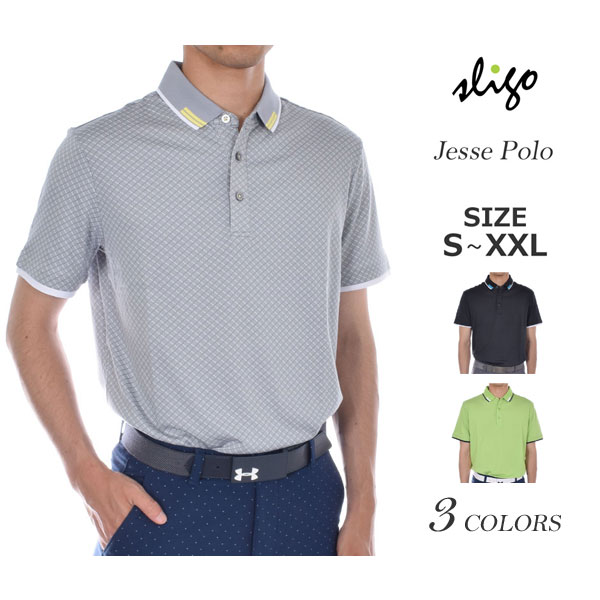 ゴルフウェア メンズ シャツ トップス ポロシャツ 春夏 おしゃれ スライゴ SLIGO ゴルフウェア メンズ ジェシー 半袖ポロシャツ 大きいサイズ USA直輸入 あす楽対応