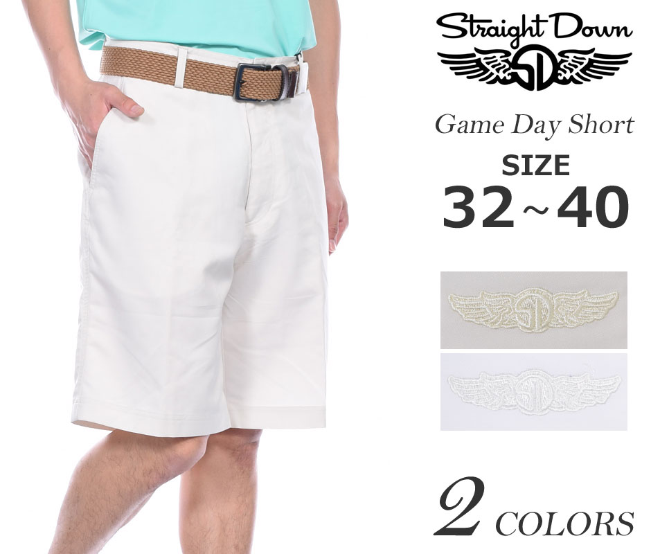 ゴルフウェア メンズ 春 夏 ゴルフパンツ ハーフパンツ メンズ おしゃれ ストレートダウン StraightDown ショートパンツ メンズ ゲーム デイ ショートパンツ 大きいサイズ USA直輸入 あす楽対応