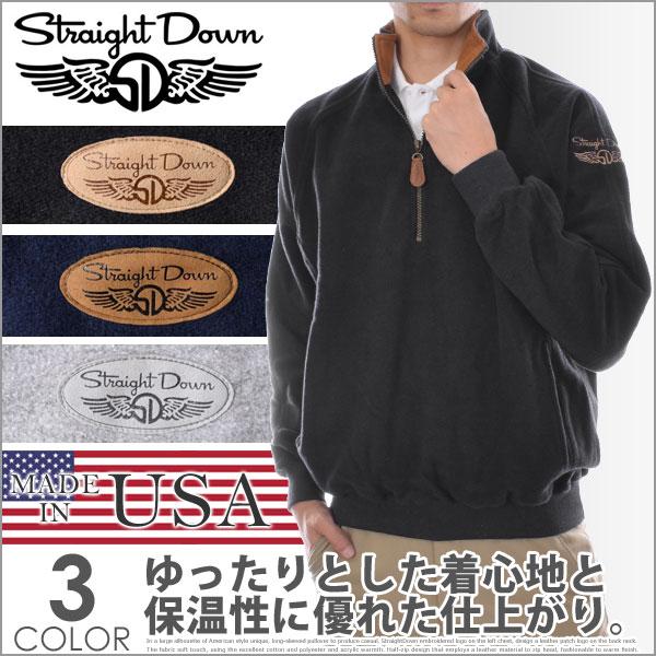 ストレートダウン StraightDown ゴルフウェア メンズ 秋冬ウェア 長袖メンズウェア ゴルフ フェアウェイ フリース 長袖プルオーバー 大きいサイズ USA直輸入 あす楽対応