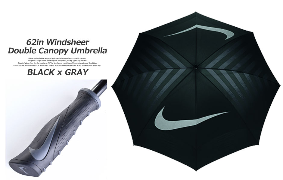 Umbrella 62in wind shear double canopy umbrella for Nike umbrella golf umbrella golf  sc 1 st  Rakuten & golfwear-usa | Rakuten Global Market: Umbrella 62in wind shear ...