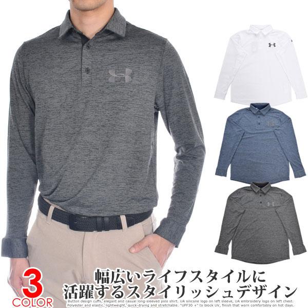 アンダーアーマー UNDER ARMOUR ゴルフウェア メンズ 秋冬ウェア 長袖メンズウェア プレイオフ 2.0 長袖ポロシャツ 大きいサイズ USA直輸入 あす楽対応