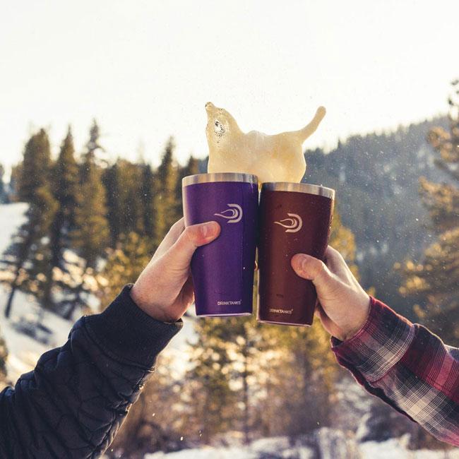ドリンクタンクス DrinkTanks 16 oz (473ml) Cup カップ ステンレス タンブラー ビール グラウラー 炭酸 水筒 キャンプ アウトドア