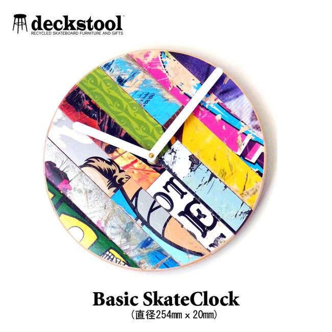 リサイクル スケートデッキ DECK STOOL Basic Skate Clock ベーシックスケートクロック USEDスケートデッキで組み立てるお洒落な壁掛【店頭受取対応商品】