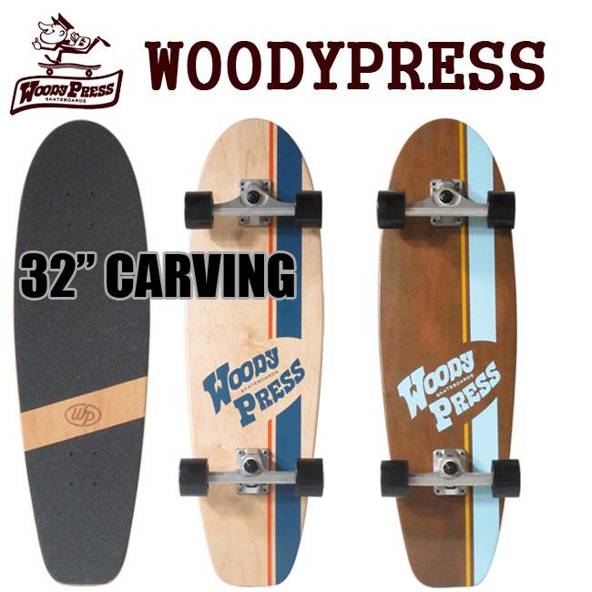 サーフスケート WOODY PRESS 28インチ NEW カービングトラック CARVER カーバー CXの様なトラック スケボー SK8【店頭受取対応商品】