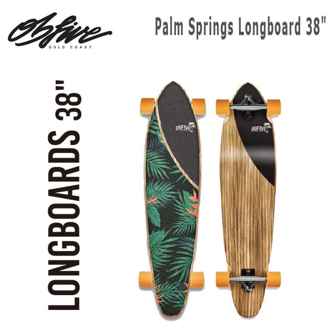 サーフスケート OBFIVE オービーファイブ Palm Springs Longboard 38 クルーザー スケートボード スケボー コンプリート