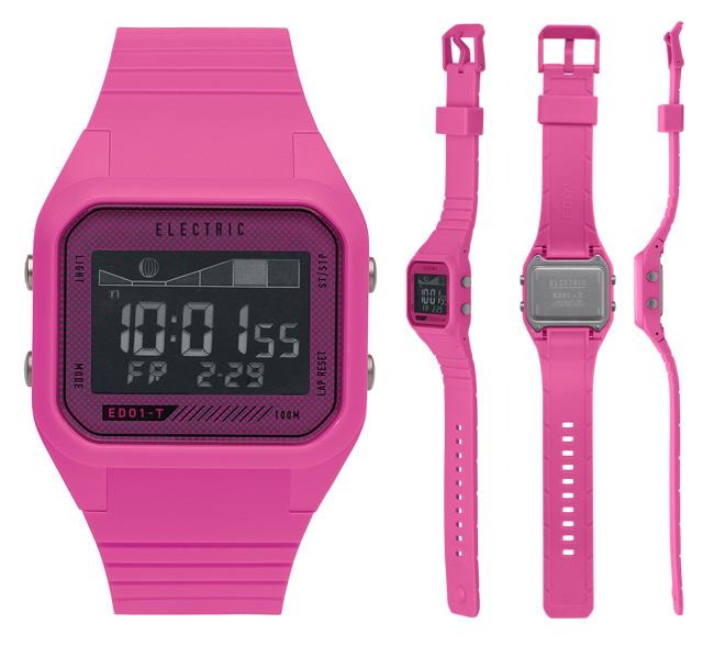 エレクトリック デジタルウオッチ 時計 ELECTRIC ED01-T PU 腕時計 防水 TIDE タイドグラフ メンズ レディース【店頭受取対応商品】