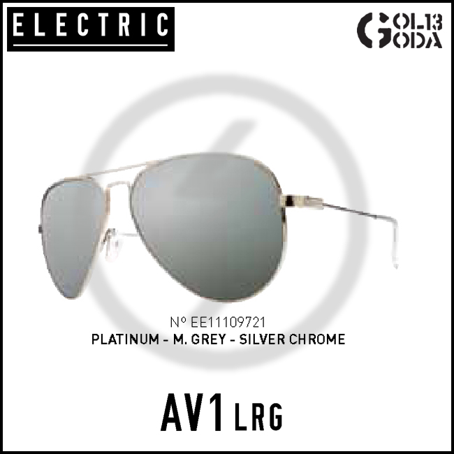 ELECTRIC AV1 LARGE AVL232 PLATINUM/M.GREY SILVER CHROME エレクトリック サングラス Sunglass【店頭受取対応商品】