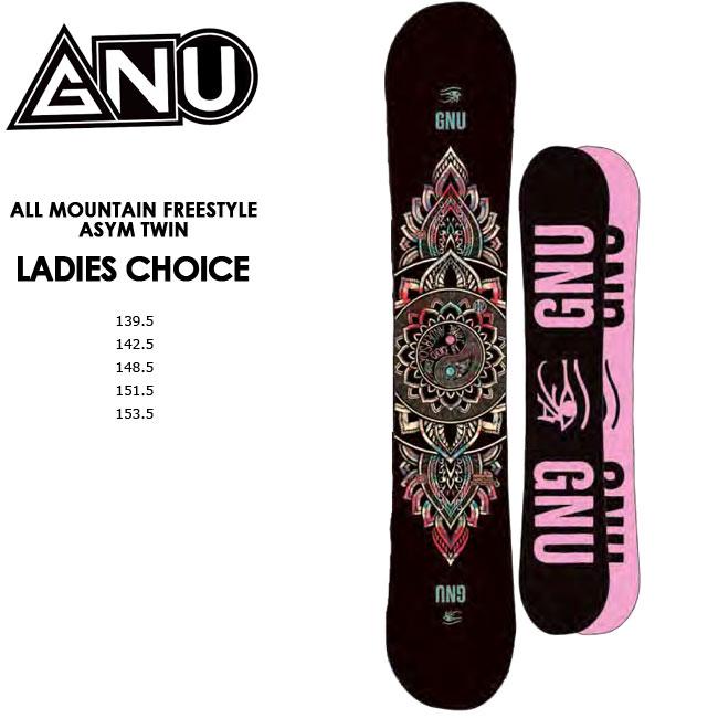 【予約】 グヌー スノーボード GNU LADIES CHOICE レディース チョイス JAMIE ANDERSON 20-21 ダブルキャンバースノーボード スノボ SNOWBOARD 板