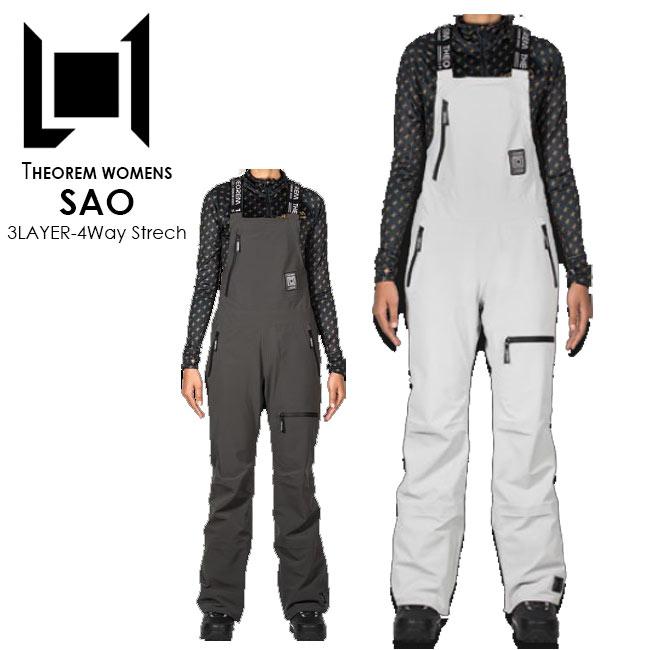 【予約】 エルワン パンツ L1 SAO PANTS 20-21 サオパンツ ビブパンツ スノーボード ウェアー レディース WOMENS 3LAYER 4WAY STRETCH THEOREM