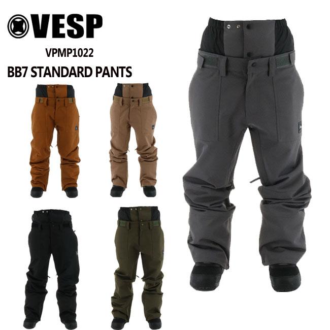 公式ストア 21-22モデル 迅速な対応で商品をお届け致します VESP SNOWBOARD PANTS 予約 べスプ BB7 STANDARD メンズ VPMP1022 スノーボード パンツ 21-22 ウェアー レディース スノボーウェア