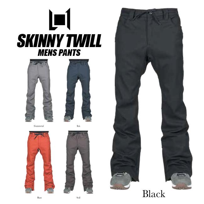 エルワン パンツ L1 SKINNY TWILL PANT スキニーツイルパンツ ボトムス スノーボード ウェアー スノボ スノボー ウェア メンズ 18-19モデル